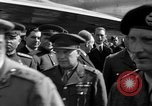 Image of Winston Churchill Berlin Germany Gatow Airport, 1945, second 29 stock footage video 65675052650