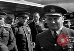 Image of Winston Churchill Berlin Germany Gatow Airport, 1945, second 30 stock footage video 65675052650
