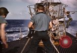 Image of Submarine USS Barb attacks Japanese ship Pacific Ocean, 1945, second 40 stock footage video 65675052655