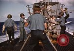 Image of Submarine USS Barb attacks Japanese ship Pacific Ocean, 1945, second 43 stock footage video 65675052655