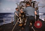 Image of Submarine USS Barb attacks Japanese ship Pacific Ocean, 1945, second 48 stock footage video 65675052655