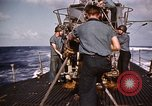 Image of Submarine USS Barb attacks Japanese ship Pacific Ocean, 1945, second 49 stock footage video 65675052655