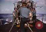 Image of Submarine USS Barb attacks Japanese ship Pacific Ocean, 1945, second 50 stock footage video 65675052655