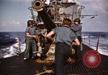 Image of Submarine USS Barb attacks Japanese ship Pacific Ocean, 1945, second 53 stock footage video 65675052655