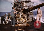 Image of Submarine USS Barb attacks Japanese ship Pacific Ocean, 1945, second 62 stock footage video 65675052655