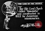 Image of old Coral Church Honolulu Hawaii USA, 1919, second 4 stock footage video 65675052979