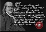 Image of portrait of Benjamin Franklin United States USA, 1926, second 35 stock footage video 65675052983