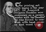Image of portrait of Benjamin Franklin United States USA, 1926, second 36 stock footage video 65675052983