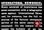 Image of newsreel editor United States USA, 1923, second 36 stock footage video 65675053000