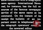 Image of newsreel editor United States USA, 1923, second 56 stock footage video 65675053000