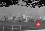 Image of skyline New York City USA, 1941, second 28 stock footage video 65675053009