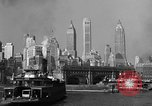 Image of skyline New York City USA, 1941, second 10 stock footage video 65675053010