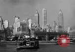 Image of skyline New York City USA, 1941, second 13 stock footage video 65675053010