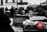 Image of US soldiers visit an open air market Archangel Russia, 1918, second 53 stock footage video 65675053036