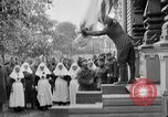 Image of Raising American flag at Red Cross hospital Archangel Russia, 1918, second 4 stock footage video 65675053037