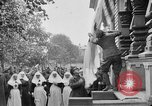 Image of Raising American flag at Red Cross hospital Archangel Russia, 1918, second 5 stock footage video 65675053037