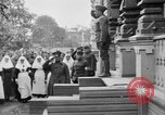 Image of Raising American flag at Red Cross hospital Archangel Russia, 1918, second 31 stock footage video 65675053037