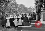 Image of Raising American flag at Red Cross hospital Archangel Russia, 1918, second 32 stock footage video 65675053037