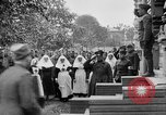 Image of Raising American flag at Red Cross hospital Archangel Russia, 1918, second 33 stock footage video 65675053037