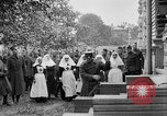Image of Raising American flag at Red Cross hospital Archangel Russia, 1918, second 38 stock footage video 65675053037