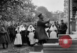 Image of Raising American flag at Red Cross hospital Archangel Russia, 1918, second 39 stock footage video 65675053037