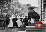 Image of Raising American flag at Red Cross hospital Archangel Russia, 1918, second 40 stock footage video 65675053037