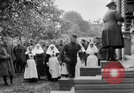 Image of Raising American flag at Red Cross hospital Archangel Russia, 1918, second 41 stock footage video 65675053037