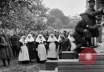 Image of Raising American flag at Red Cross hospital Archangel Russia, 1918, second 42 stock footage video 65675053037
