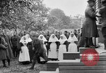 Image of Raising American flag at Red Cross hospital Archangel Russia, 1918, second 43 stock footage video 65675053037