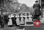 Image of Raising American flag at Red Cross hospital Archangel Russia, 1918, second 44 stock footage video 65675053037