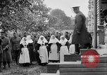 Image of Raising American flag at Red Cross hospital Archangel Russia, 1918, second 45 stock footage video 65675053037