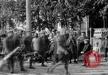 Image of Raising American flag at Red Cross hospital Archangel Russia, 1918, second 49 stock footage video 65675053037
