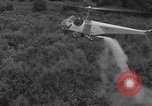 Image of Bell 30 helicopter spraying pesticides United States USA, 1942, second 20 stock footage video 65675053061