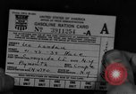 Image of gas rations and World War 2 rationing United States USA, 1942, second 1 stock footage video 65675053063