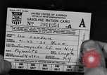 Image of gas rations and World War 2 rationing United States USA, 1942, second 3 stock footage video 65675053063