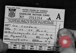 Image of gas rations and World War 2 rationing United States USA, 1942, second 5 stock footage video 65675053063