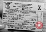 Image of gas rations and World War 2 rationing United States USA, 1942, second 13 stock footage video 65675053063