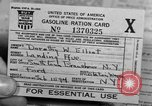 Image of gas rations and World War 2 rationing United States USA, 1942, second 15 stock footage video 65675053063