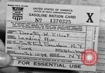 Image of gas rations and World War 2 rationing United States USA, 1942, second 16 stock footage video 65675053063