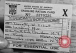 Image of gas rations and World War 2 rationing United States USA, 1942, second 17 stock footage video 65675053063