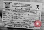 Image of gas rations and World War 2 rationing United States USA, 1942, second 19 stock footage video 65675053063