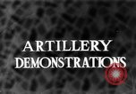 Image of Live fire demonstrations at British Army Royal School of Artillery Salisbury England United Kingdom, 1936, second 1 stock footage video 65675053131