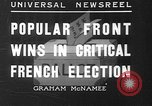 Image of people casting votes France, 1936, second 1 stock footage video 65675053230