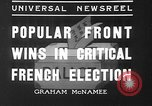 Image of people casting votes France, 1936, second 2 stock footage video 65675053230