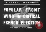 Image of people casting votes France, 1936, second 3 stock footage video 65675053230