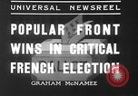 Image of people casting votes France, 1936, second 4 stock footage video 65675053230