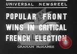 Image of people casting votes France, 1936, second 7 stock footage video 65675053230