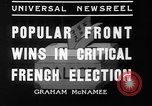 Image of people casting votes France, 1936, second 9 stock footage video 65675053230