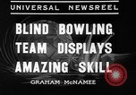 Image of blind bowlers New York City USA, 1936, second 3 stock footage video 65675053234