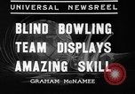 Image of blind bowlers New York City USA, 1936, second 7 stock footage video 65675053234
